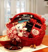 Sugar Free Valentine Red Gift Basket with bear