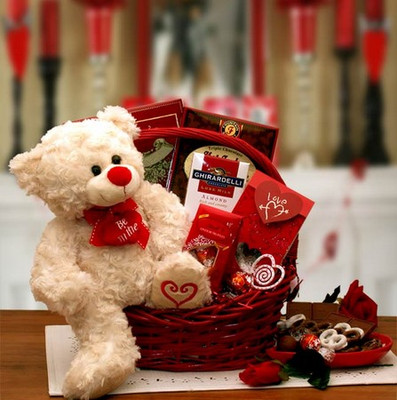 Please Be My Valentine Gift Basket