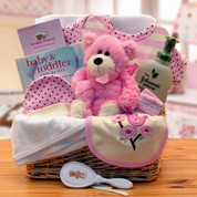 Newborn Organic Girl Gift Basket