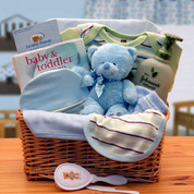 Newborn Organic Boy Gift Basket