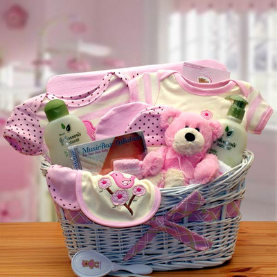 Baby Luxury Girl Organic Gift Basket