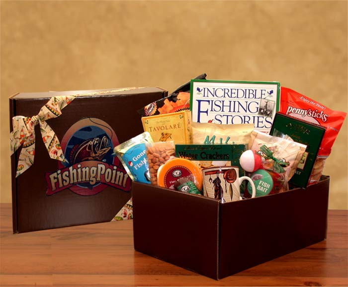 Fisherman gift box gift basket for fathers for Fishing gift box