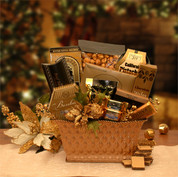 Golden Holiday Gourmet Basket