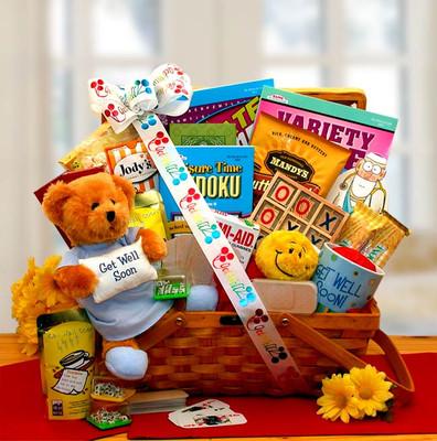 Get Well Activities gift basket