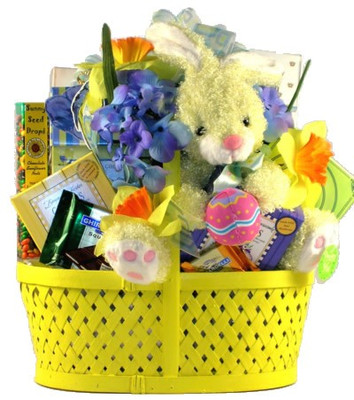 Classic Easter gift Basket shown in yellow