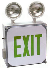 Wet Location Combo LED Exit/Emergency Light