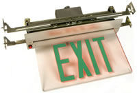 Recessed LED Edge Lit Exit Sig