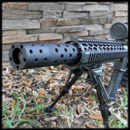 Multi Ported Muzzle Brake Style Barrel Shroud AR 15
