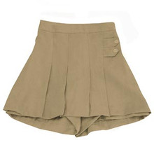 Khaki Two Notch Skort
