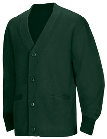 SSM Hunter Green Cardigan w/ School Logo