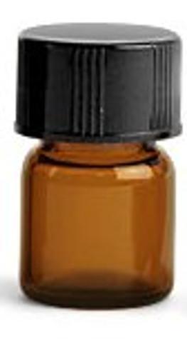 Amber Glass 2 ml  w/Dropper Insert and Cap