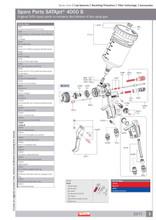 Hvlp Spray Gun Kit >> SATA 166058 Repair kit SATAjet 4000 B - B&D Auto Paint Supply