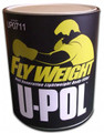 FLYWEIGHT™: Smooth Lightweight Body Filler Features & Benefits  Super lightweight, easy spreading and sanding polyester body filler. Non-porous formula that will not shrink. Tack free and bleed-through proof. Very easy to sand product even after 24 hours.
