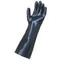 Extended Length Neoprene Glove  17″ length Heavy-duty Comfortable cotton knit lining absorbs moisture Excellent for some solvents, acids, caustics and dipping operations One size fits most (6588)