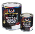 KD3000 Series Kustom DTS Foundation Surfacer Sealers  KD3000 is a hybrid epoxy two component primer designed to be used as a DTS or Direct to Substrate High Build High Build Surfacer, Medium Build Surfacer/High Build Sealer, or silky smooth sealer. Available in 6 premixed colors which can be intermixed for a wide range of colors. KD3000 is an industry first and undisputedly the best foundation system available. KD3000 has excellent adhesion, corrosion resistance, productive dry times, and ease of sanding. These DTS surfacer/sealers emit very low amounts of Volatile Organic Compounds (VOCs), Hazardous Air Polluting Solvents (HAPS), and contain no isocyanates. The KD3000 Series DTS surfacer/sealers may be applied to the existing OEM finish, bare steel, aluminum, fiberglass, galvanized surfaces, and various plastics. Its tenacious adhesion, hi-build, excellent durability, and water and corrosion resistance and ease of sanding make it a superior choice for the basis of a long lasting custom paint job. For the quickest and easiest approach to selecting ground coat color, apply basecoat over KD3000 Color Check panel (part # HOK1052015) and select which formula best matches your desired color and effect.