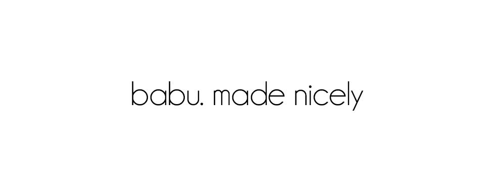 Babu. made nicely