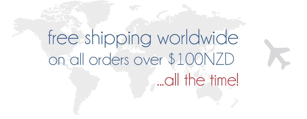 Free shipping over $100NZD
