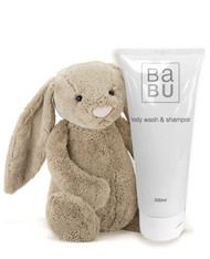 Jellycat and body wash beige