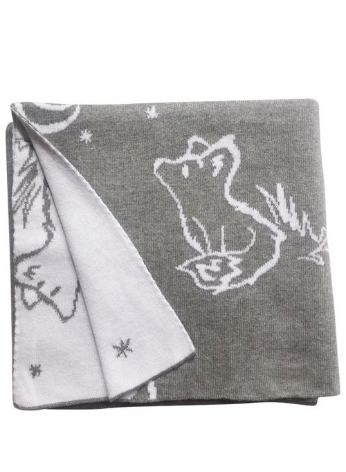 Fox blanket grey/white