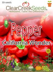 Pepper Sweet - California Wonder (50+ seeds)