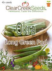 Okra - Long Green Pod (45+ seeds)