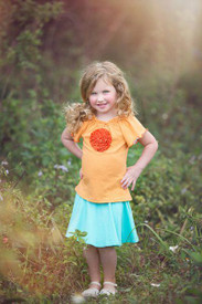 Persnickety Kimmy Top - Orange Dot