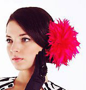 Mackenzie Mode Hat - Large Hot Pink Flower