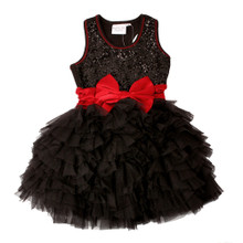 Ooh La La Couture WOW Dream Dress Black with Red Bow