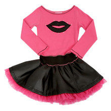 Ooh La La Couture Lip Dress Pink and Black