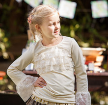 Swanky Baby Vintage Lucy Lace Top - Antique Cream