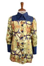 La Miniatura Western Button Up Shirt - Gold