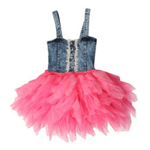 Ooh La La Couture Candy Pink X all 4 Denim Dress