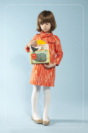 Anthem of the Ants Sadie Bow Party Dress - Persimmon