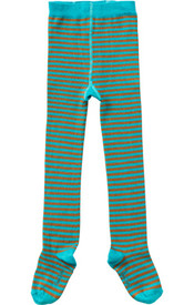 Room Seven Tights - Green Brown Stripe