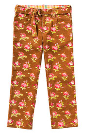 Room Seven Pinny Pants - Retro Flower Cords