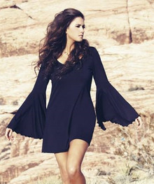 Union of Angels Black Farrah Jersey Dress
