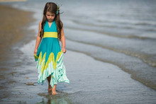 Pixie Girl Windy Day Dress - Turquoise Lime Mint
