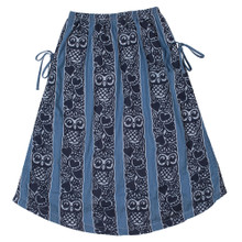 Paper Wings Owl Stripe Chambray Drawstring Maxi Skirt