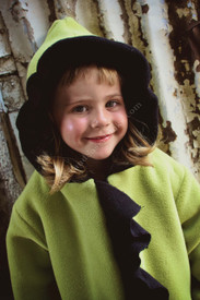 Corky Fleece Anne Marie Coat - Green and Black (size 4)