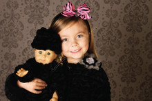 Corky Doll Coat - Black Wave