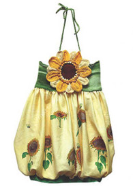 Ninachka Couture Sunflower Pouff Dress (12 mo)