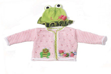 "Ninachka Couture ""Frog Princess"" Infant Hat & Sweater Set"