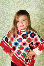 Mim Pi Multi-Color Knit Poncho