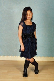 Tru Luv Lucky 7 Ruffle Lace Dress
