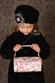 Viva L'France Pink Barrel Bag