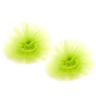 Servane Barrau Lime Hair Pom Poms
