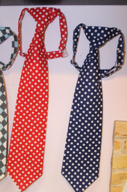 Boy's Navy Blue Dot Tie