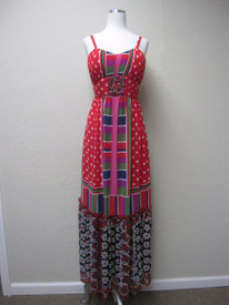 Chiffon PolkaDot Maxi Dress