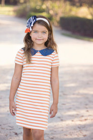 Persnickety Mckenna Dress - Orange Stripe Final Sale