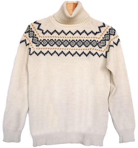 Vintage Ski Turtleneck - Fair Isle